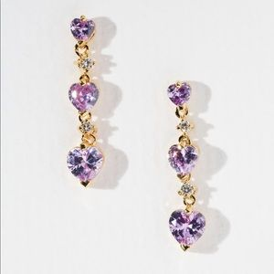 New Vanessa Mooney the bewitched earrings Purple